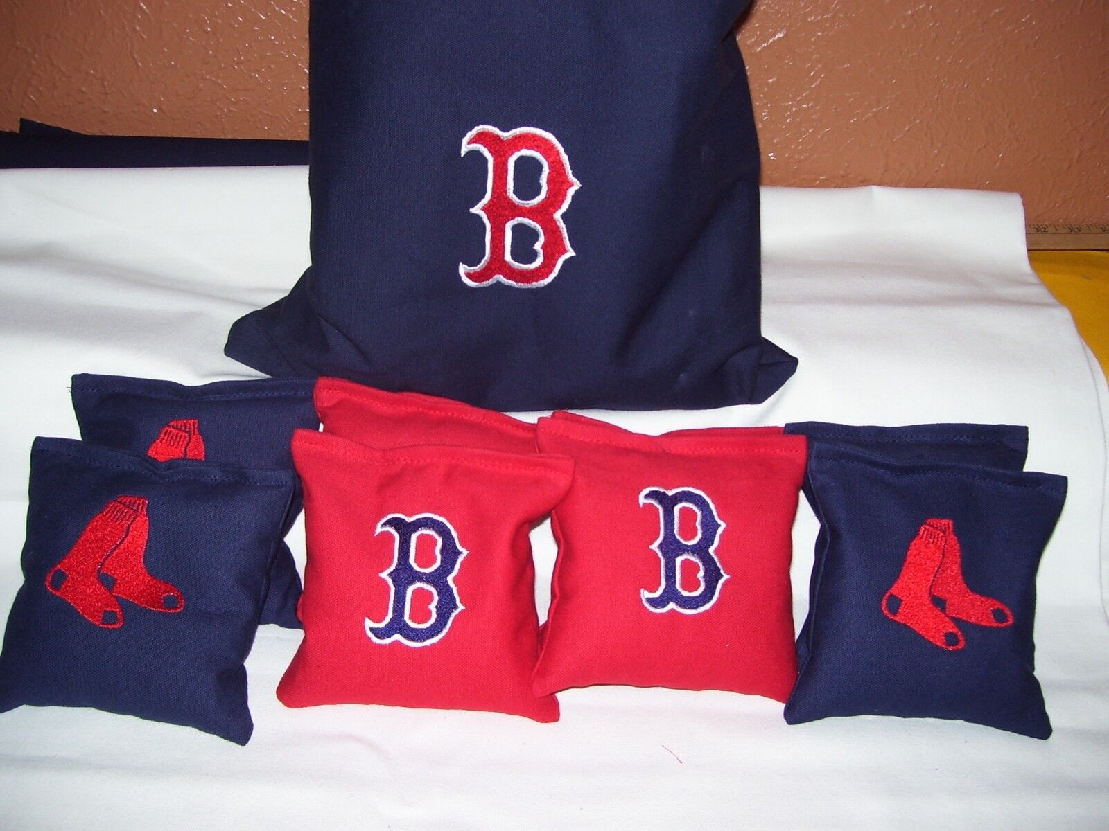 Boston Red Sox Embroidered Cornhole Corn Hole Bags With Storage  Bag  clients first reputation first