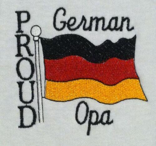 Proud German Opa Baby Bodysuit Embroidered German Flag