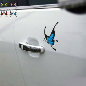 Two-tone-Scratch-Bumper-Sticker-Decal-Window-Beautiful-Butterfly-Car-Sticker-New