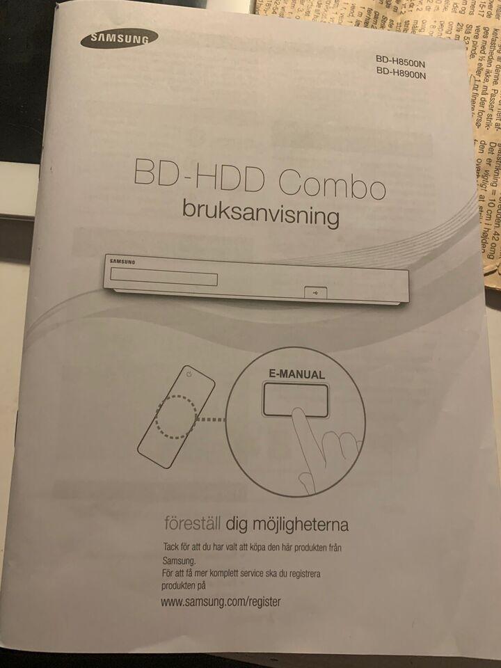 Samsung, BD-HDD COMBO, Harddisk/dvd-optager
