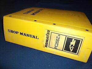 komatsu service pc200z 6le shop manual excavator repair book