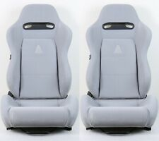 2 X Tanaka Gray Micro Cloth Racing Seats Reclinable Sliders Fits For Toyota A Fits Toyota Celica