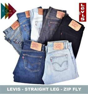 Dettagli su VINTAGE jeans Levi's Da Uomo Gamba Dritta Cerniera Denim Levis 505 506 514 751 Levis mostra il titolo originale