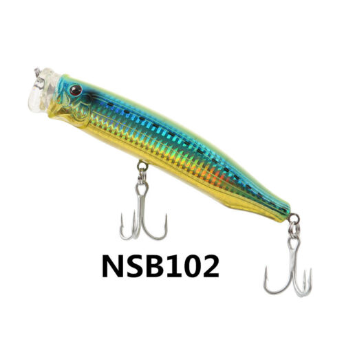 NOEBY Popper Fishing Lure 150mm 54.5g Top Water VMC Hook Bait Hard Lure Colors