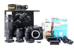 Nikon-D7100-24-1MP-28-80-75-300mm-Double-Lens-Set-Exc-w-Box-NEW-SDCard-jk