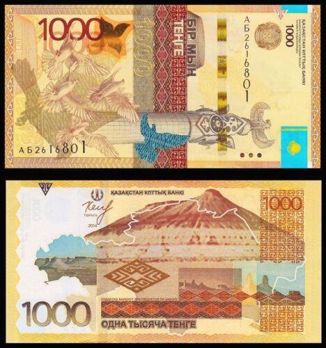 KAZAKHSTAN 1000 Tenge 2014 UNC Pick 45a