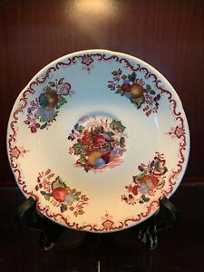 "Mason's Patent Ironstone FRUIT BASKET Red Multi-Color 6""  Plate"