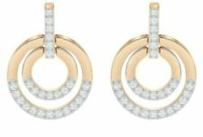 Rose Gold Plating 5351081 Swarovski Crystal Hillock Round Pierced Earrings