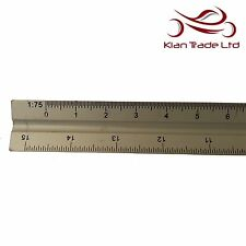 """12"""" 300mm Aluminium Tri Scale Ruler Engineers Architects Technical Drawing Rule"""