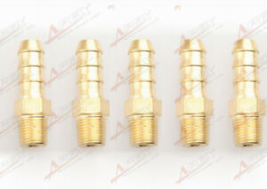 """3//8 Male Brass Hose Barbs Barb To 1//8/"""" NPT Pipe Male Thread"""