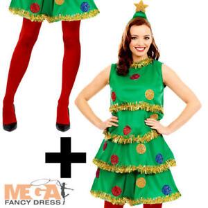 6e2f24566b7a Image is loading Christmas-Tree-Tights-Ladies-Fancy-Dress-Festive-Xmas-