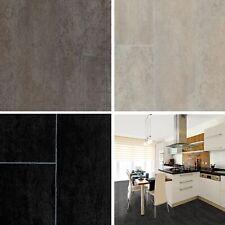 PVC Bodenbelag Vinylboden Fliesenoptik Steinoptik grau 2m 3m 4m breit 19,95€//qm