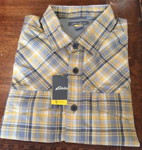 3 Eddie Bauer Freeshade Travex Live Your Adventure long sleeve shirt $240Sz Med