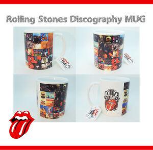 Rolling-Stones-Discography-Mug-Gift-Cup-Mick-Jagger-Keith-Richards-Guitar