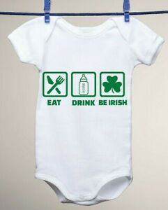 2d7631b69 Details about Eat, Drink, Be Irish St Patrick's Day Baby Gerber Onesie,  Ginger Red Head Gift