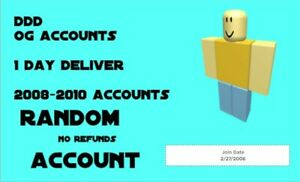 Roblox Accounts With Robux Account 2008 2020 Accounts Sale 10 Off Random Ebay