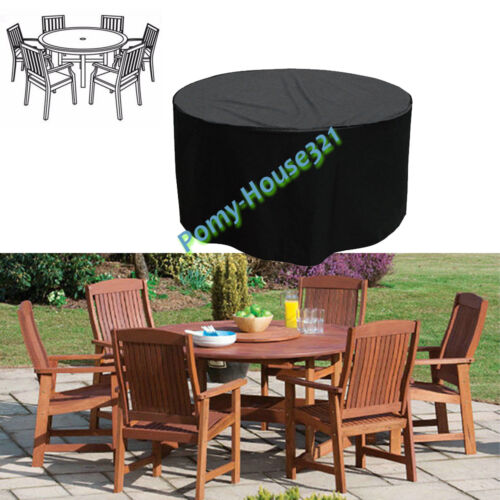 WATERPROOF RATTAN GARDEN FURNITURE 4//6//8 SEATER TABLE CHAIR SET PROTECTOR COVER