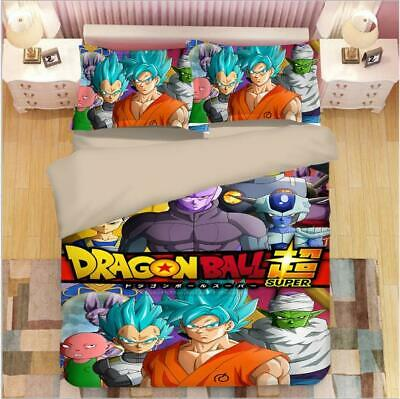 Dragonball Z Anime 3tlg.4tlg Bettwäsche Bettwäschegarnitur Deckenbezug Bedding Reines Und Mildes Aroma