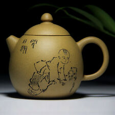 500ml Chinese Yixing god of longevity Handmade Purple clay Pottery Zisha Teapot