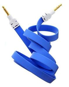 3M-3-5mm-Jack-Jack-Flat-Anti-Tangle-Music-AUX-Auxiliary-Audio-Cable-Lead-Blue