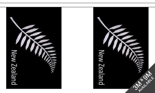 3 metre long New Zealand Fern 10 flag bunting