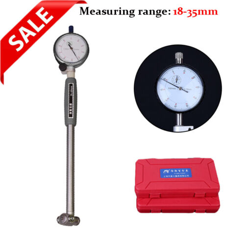 Dial Bore Gauge 18-35mm Hole Indicator Measuring Cylinder Engine Gage Tool Kit