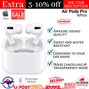 Apple Airpods Pro with Wireless Charging Case Silicone Tips Noise Cancel iPhone