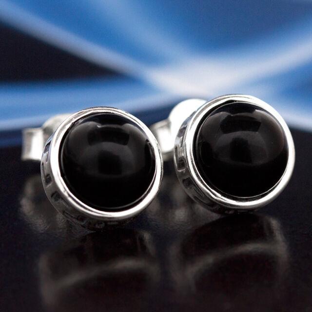Onyx Silber 925 Ohrringe Damen Schmuck Sterlingsilber S562