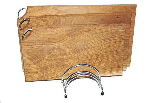 A set of cutting boards with a stand- oak (3 pcs) +  (Stand for hot)