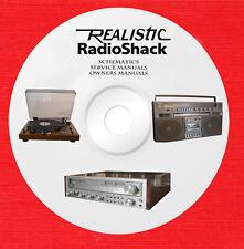 Realistic Radio Shack Audio Repair Service owner manuals on 1 dvd in pdf format