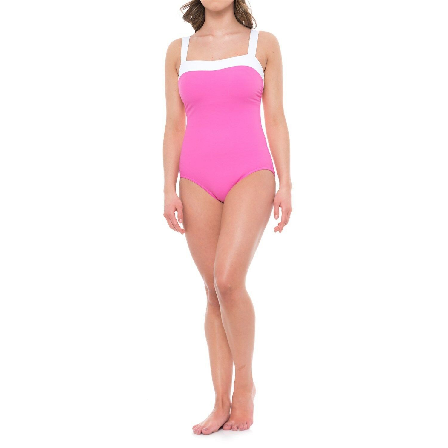 NEW MAGICSUIT MIRACLESUIT SWIMSUIT  150 14 44 Slimming Spectra Bright Pink White