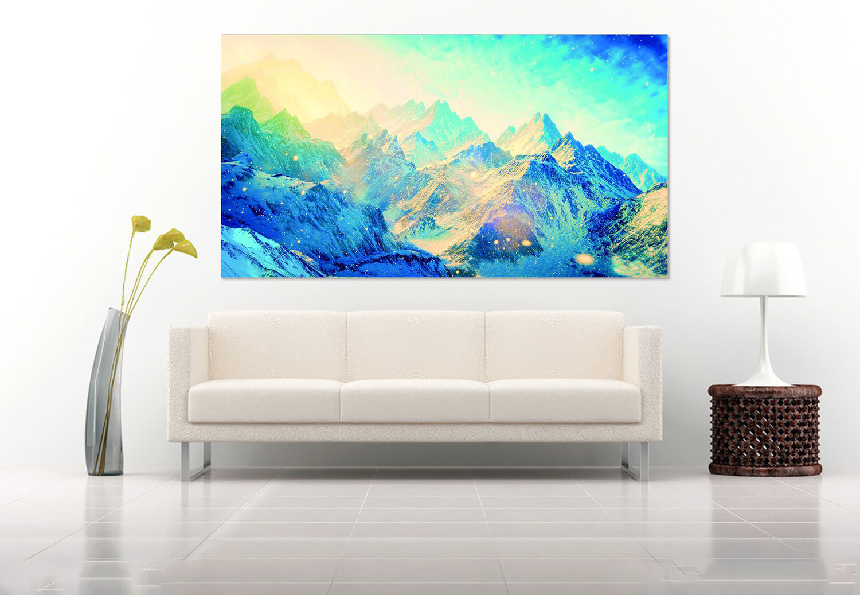 3D Blaue Berge 532 Fototapeten Wandbild BildTapete Familie AJSTORE DE