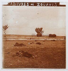 Bodies-Da-Zuavi-Guerre-14-18-Francia-Foto-Stereo-PL46Th2n10-Placca-Vintage