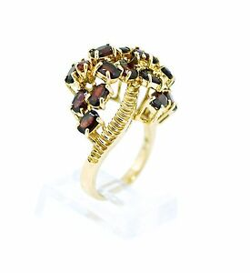 Retro-Natural-2-62cttw-Garnet-Cluster-Prong-Set-In-14K-YG-SZ6