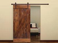 Sliding Hardware Kit With Interior Solid Core Wood Painted Dark Coffee Door Slab on sale