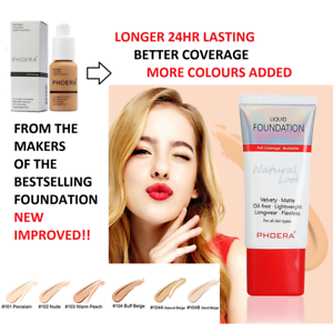 PHOERA-Matte-Liquid-Skin-Foundation-Full-Coverage-Long-Lasting-Light-Face-Makeup