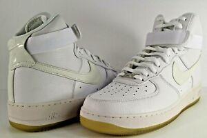 Details about Nike Air Force 1 Hi CMFT Premium QS Triple White Size 12 573972 101