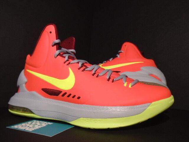 Nike zoom kevin durant kd v 5 volt lupo grigio 554988-610 motorizzazione rosso arancione