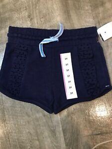 Cat /& Jack Girl/'s Shorts Drawstring Blue Sizes 3T Soft 2 Side Pockets Summer New
