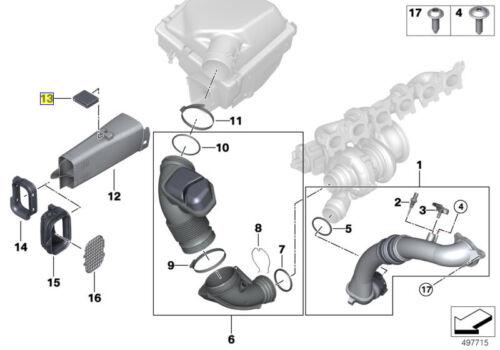 BMW Condotto Di Aspirazione Dell/'aria A Induzione Tubo in Gomma Montaggio 13718573147