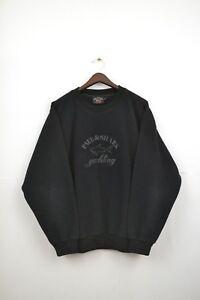 Para-Hombre-Paul-amp-Shark-Yachting-Fleece-Sudadera-Big-Logo-Chaqueta-Vintage-90S-Talla-L