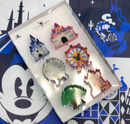 Disneyland Mousewares Collection Park Attraction Icons Cookie Cutter set of 6.