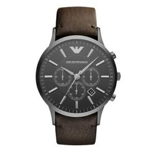 Emporio-Armani-AR2462-Sport-Brown-Leather-Band-Mens-Watch
