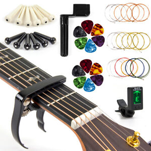 Guitar-Strings-Changing-Kit-Tuner-Picks-Capo-Cutter-Winder-All-in-1-Package