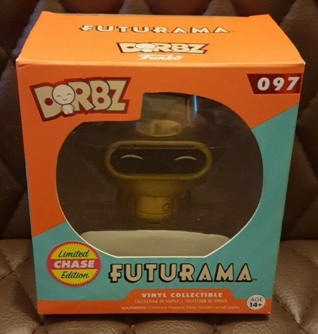 Funko Dorbz Gold Bender Chase Vinyl Figure  97 Rare Futurama UK Seller