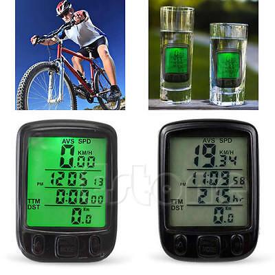 Waterproof Bicycle Cycle Bike Computer LCD Odometer Speedometer With Backlight