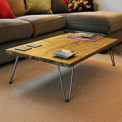 Hairpin Legs Coffee Table Scaffold Board Reclaimed Solid Wood