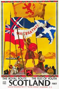 TU43-Vintage-See-Scotland-Royal-Route-Railway-Travel-Poster-Re-Print-A4