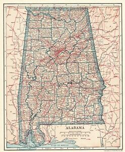 Details about 1921 Antique ALABAMA Map of Alabama State Map Original on map of delaware, selma alabama, map of new york, phenix city alabama, map of texas, clanton alabama, map of hawaii, talladega alabama, map of italy, decatur alabama, map of maine, map of oklahoma, military bases in alabama, road map alabama, map of georgia, map of michigan, map of ohio, map of arizona, arab alabama, cuba alabama, map of china, maycomb alabama, warrior alabama, map of florida, map of california, southern alabama, map mississippi, map of illinois, cities in alabama, troy alabama, map of alaska, map of virginia, things to do in alabama, map of north carolina, hoover alabama, athens alabama, jefferson county alabama, map of wisconsin, jasper alabama, map of new jersey,