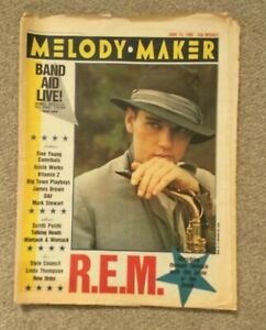 MELODY MAKER Magazine - 15 June 1985 - BAND AID Live - BOWIE - Costello - U2